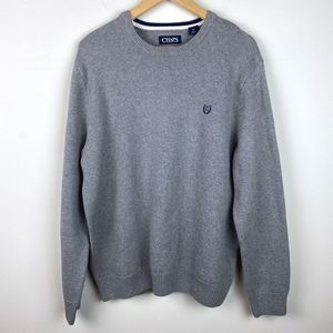 Men's Chaps Pullover Grey Large Sweater